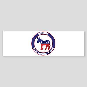 Illinois Democratic Party Original Bumper Sticker