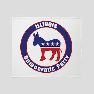 Illinois Democratic Party Original Throw Blanket