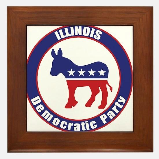 Illinois Democratic Party Original Framed Tile