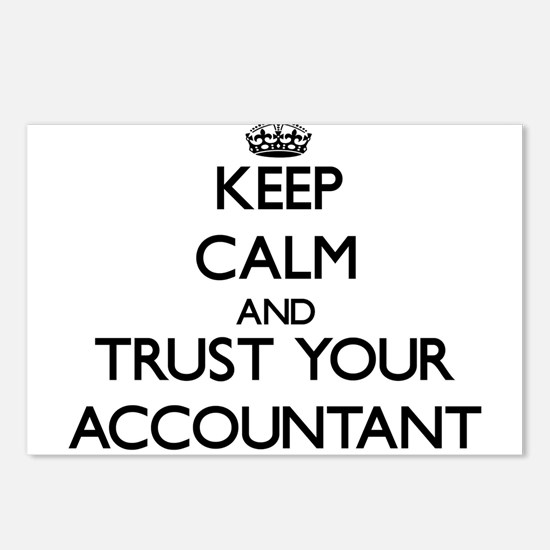 Keep Calm and Trust Your Accountant Postcards (Pac