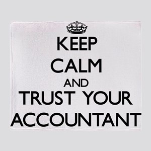 Keep Calm and Trust Your Accountant Throw Blanket