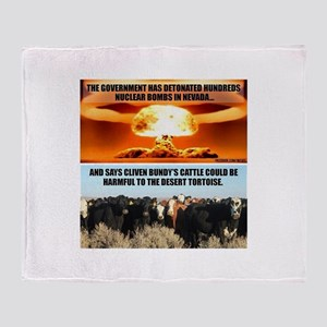 Raid On Bundy Ranch Throw Blanket