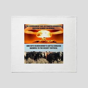 Raid On Bundy Ranch Throw Blanket