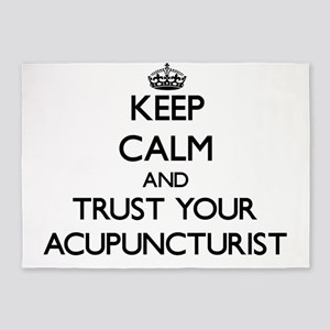 Keep Calm and Trust Your Acupuncturist 5'x7'Area R