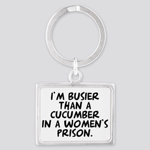 Busier than a Cucumber Landscape Keychain