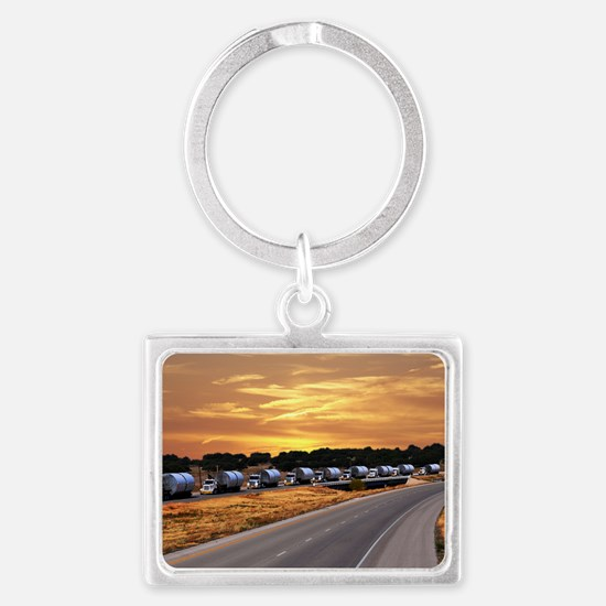 Truck Convoy2 Landscape Keychain