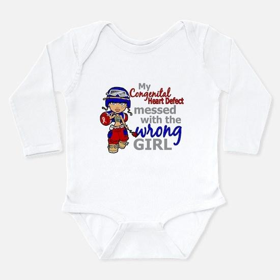 CHD Combat Girl 1 Long Sleeve Infant Bodysuit