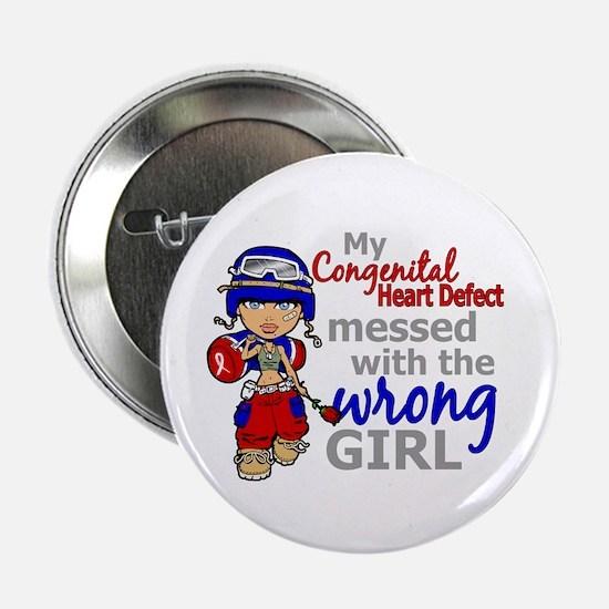 """CHD Combat Girl 1 2.25"""" Button (10 pack)"""
