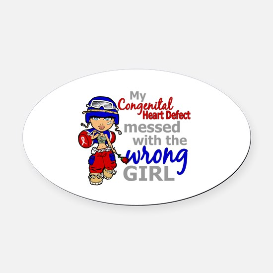 CHD Combat Girl 1 Oval Car Magnet