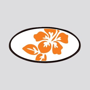 Orange Hibiscus Tropical Hawaii Flower Patches
