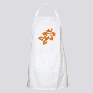 Orange Hibiscus Tropical Hawaii Flower Apron