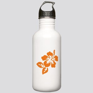 Orange Hibiscus Tropic Stainless Water Bottle 1.0L