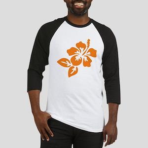 Orange Hibiscus Tropical Hawaii Fl Baseball Jersey