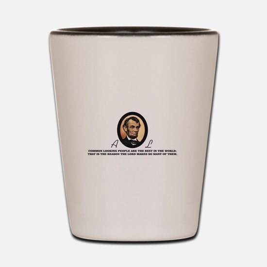 a good quote from abe Shot Glass