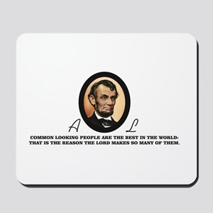 a good quote from abe Mousepad