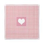 Romantic pink checkered Queen Duvet
