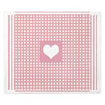 Romantic pink checkered King Duvet