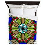 Colorful Stained Glass Queen Duvet