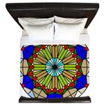 Colorful Stained Glass King Duvet