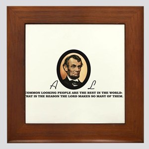 a good quote from abe Framed Tile