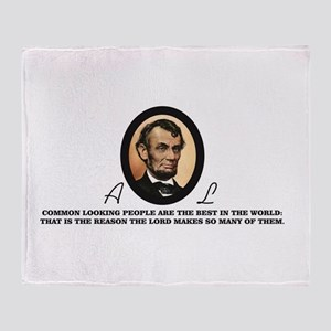 a good quote from abe Throw Blanket