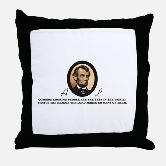 a good quote from abe Throw Pillow