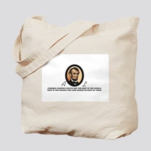 a good quote from abe Tote Bag