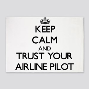 Keep Calm and Trust Your Airline Pilot 5'x7'Area R