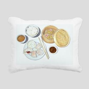Dim Sum Rectangular Canvas Pillow
