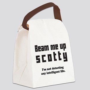 beam me up scotty Canvas Lunch Bag