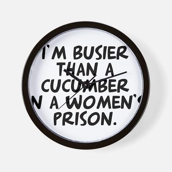 cucumber in a womens prison Wall Clock