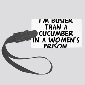 cucumber in a womens prison Luggage Tag