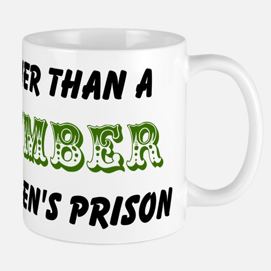 cucumber in a womens prison2 Mugs