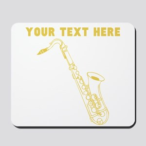 Custom Gold Saxophone Mousepad