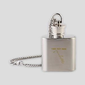 Custom Gold Saxophone Flask Necklace