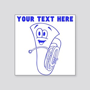 Custom Blue Cartoon Horn Sticker
