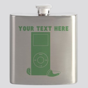 Custom Green MP3 Player Flask