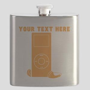 Custom Orange MP3 Player Flask
