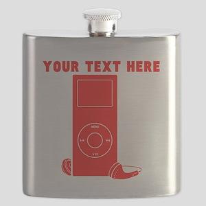 Custom Red MP3 Player Flask