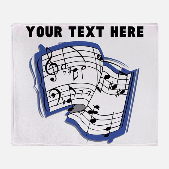 Custom Music Sheet Throw Blanket