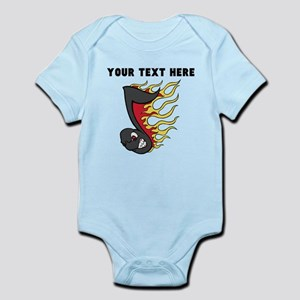 Custom Flaming Music Note Body Suit