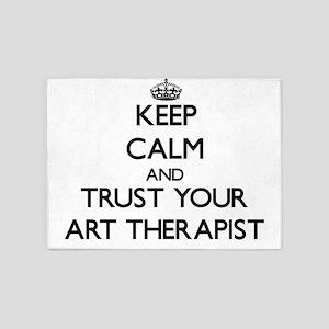 Keep Calm and Trust Your Art arapist 5'x7'Area Rug