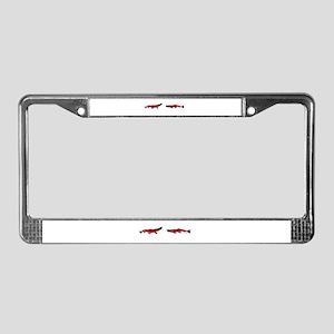 RedBlack License Plate Frame
