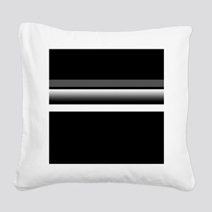 Team Colors2...Black,gray and white Square Canvas