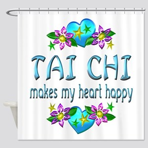Tai Chi Heart Happy Shower Curtain