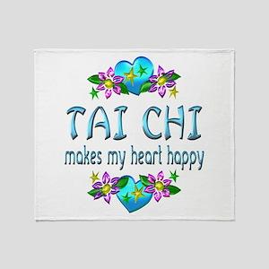 Tai Chi Heart Happy Throw Blanket