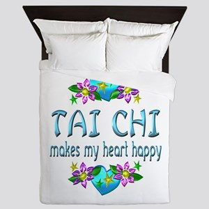 Tai Chi Heart Happy Queen Duvet