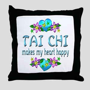 Tai Chi Heart Happy Throw Pillow