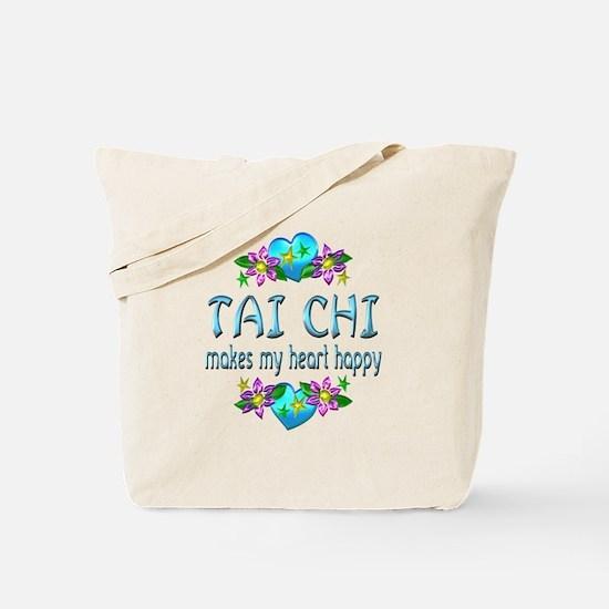 Tai Chi Heart Happy Tote Bag