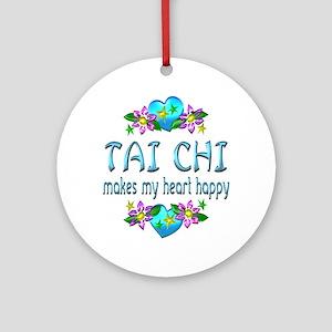 Tai Chi Heart Happy Ornament (Round)